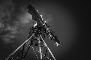 windmill,black and white, b&w